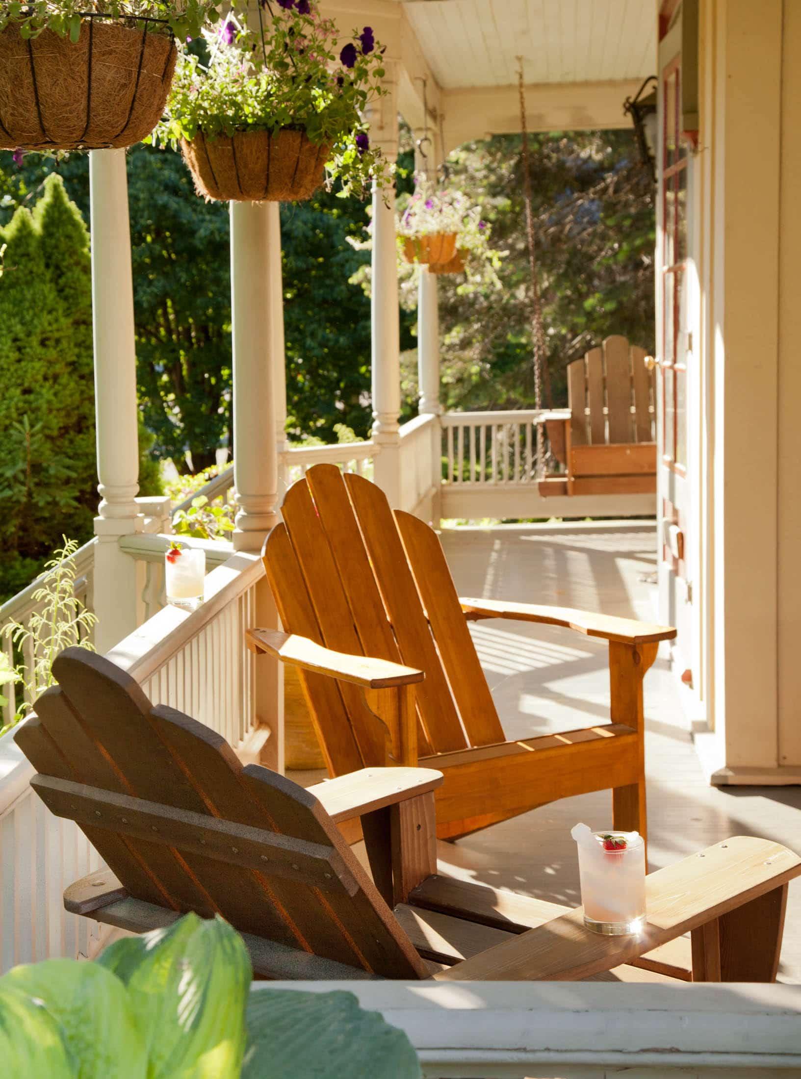 Inviting porch at Inn