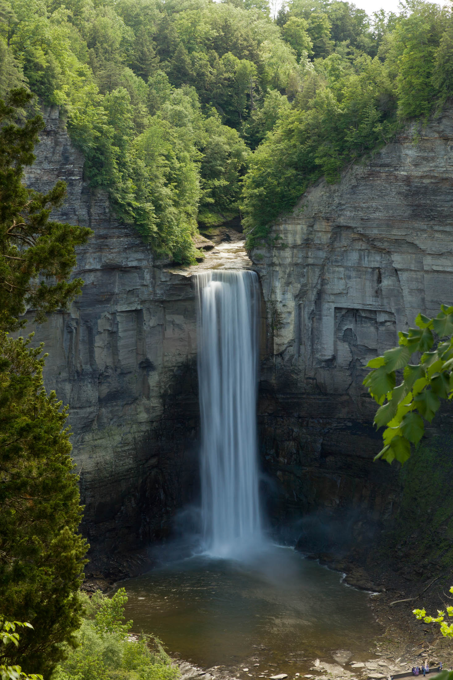 Taughannock Falls are miles away
