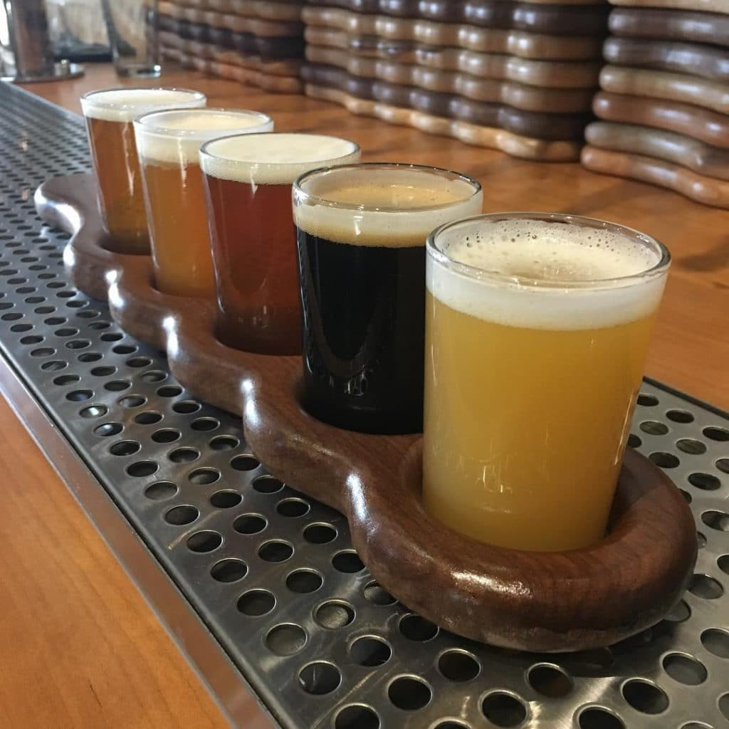 Flight of Beers Available at Garrett's Brewing Company